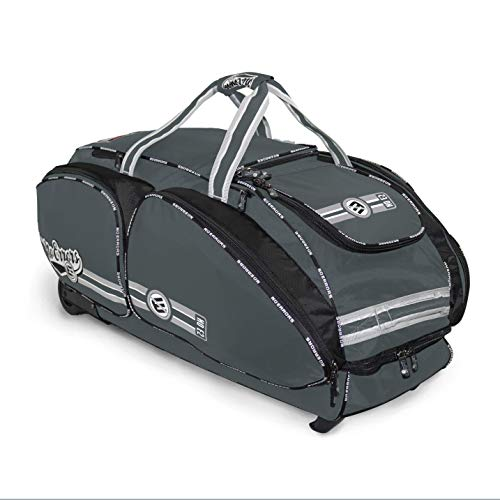 NO ERRORS NO E2 Catchers Bag with FatBoy Wheels – Wheeled Baseball Equipment Gear & Helmet Bags (Graphite)