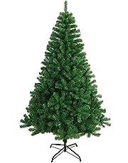 Árbol de Navidad Artificial Arboles C/Soporte Incluido Abeto 120-240cm (180cm 617Tips, Verde)