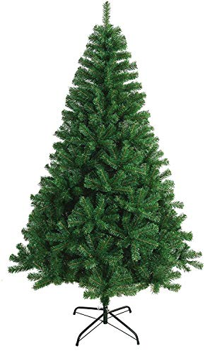 Árbol de Navidad Artificial Arboles C/Soporte Incluido Abeto 120-240cm (150cm 380Tips, Verde)