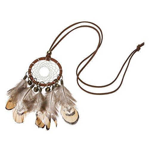 Domybest New Indian National Bell Feder Traumfänger Pullover Kette Halskette