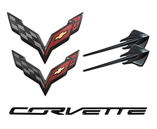 2014-2019 Chevrolet C7 Corvette Carbon Flash Emblem Kit 23465587