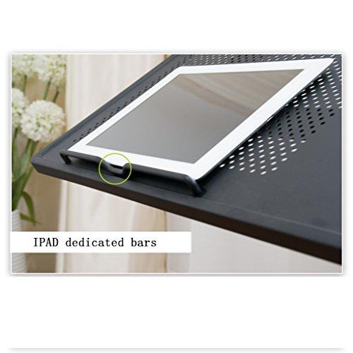Simple paresseux bureau de chevet bureau d'ordinateur pliant ordinateur portable bureau lit bureau d'ordinateur levage gratuit, gain de place (Color : Blanc)