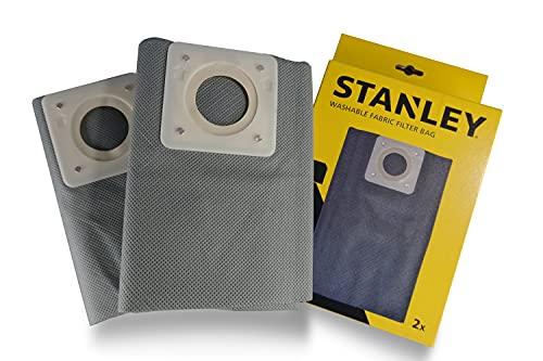 Stanley Sacchetti Filtro in Stoffa Lavabili 30 l per Aspiratori Solidi e Liquidi