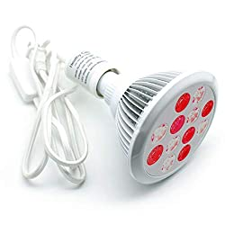 24W LED Red Light Therapy Lamp - 660nm and Near Infrared 850nm Lamp for Skin Rejuvenation and Pain Relief