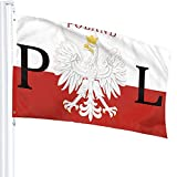 Bandera polaca Bandera de Polonia Polska 3 x 5 pies Banderas duraderas para el hogar Ojales de latón Banderas para Bandera Banderas de una cara para decoraciones de casas en jardines y jardines