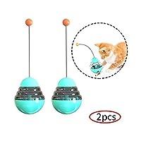2ピース猫のおもちゃからかいペットのおもちゃ猫のフィードボールスローフィーダー タンブラー のペットフードパズルのおもちゃ猫のフードおもちゃのおもちゃインタラクティブなおもちゃ,Lake