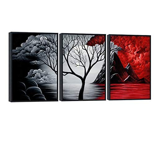 Wieco Art Extra Large Size Framed Canvas Art Prints Wall Art the Cloud...