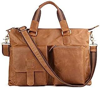 Chliuchihjklstb briefcase, Men's Briefcase Leather Office 17-inch Laptop Shoulder Bag Men's Handbag Men's Handbag (Color :...