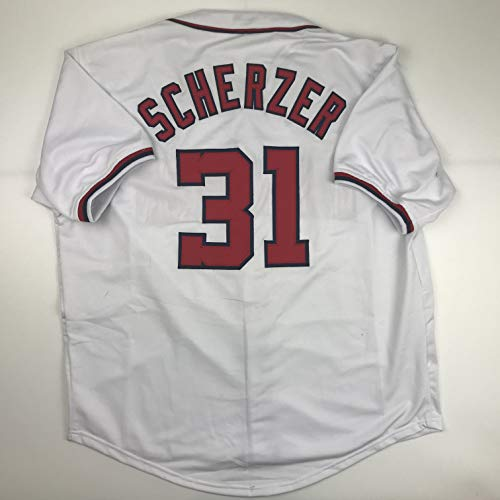 Unsigned Max Scherzer Washington White Custom Stitched Baseball Jersey Size Men's XL New No Brands/Logos
