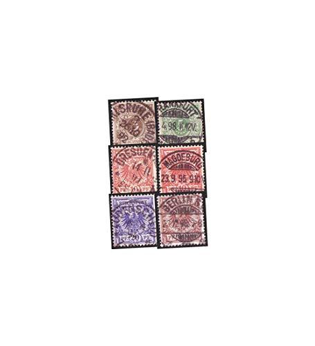 Goldhahn Deutsches Reich Nr. 45-48,50 gestempelt 10 Pfennig in 2 Farben Briefmarken für Sammler