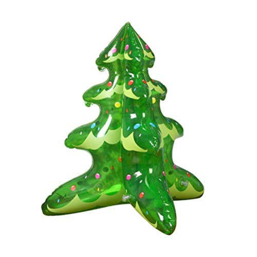 TOYMYTOY Weihnachtsbaum aufblasbare Ballon Blow Up Ornamente für Weihnachtsfeier Feier Dekoration (grün)