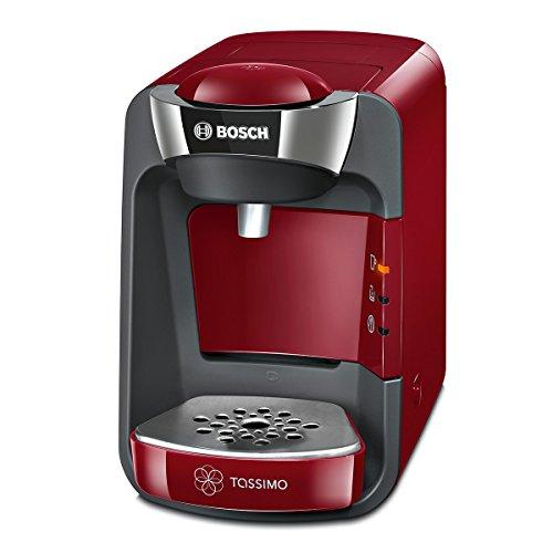 Tassimo Suny Kapselmaschine TAS3203 Kaffeemaschine by Bosch, über 70 Getränke, vollautomatisch, geeignet für alle Tassen, nahezu keine Aufheizzeit, 1300 W, rot/anthrazit