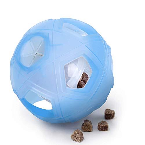 Lumoleaf Hundespielzeug Ball,12.7cm Interaktives IQ Leckerli-Ball Spielzeug mit Einstellbarer Schwierigkeiten für Kleine bis Mittlere Hunde, Haustierfutter Spielzeug Ball