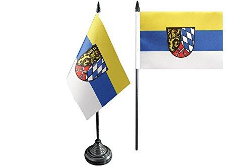 Flaggenfritze Tischflagge/Tischfahne Deutschland Oberpfalz + gratis Aufkleber