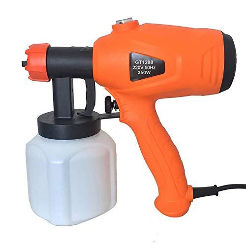 Heatile Elektrischer Farbspritz Airbrush 800ml große Kapazität Maximum fließt 380ml / min 400W Adjuable Knob Düse abnehmbare für Holz- und Metallfarben - Innen- und Außenverwendung