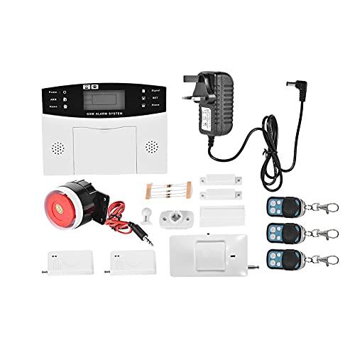 Sistema de Alarma de Seguridad antirrobo para el hogar, Sistema de Alarma gsm Sistema de Alarma de Seguridad antirrobo Inteligente inalámbrico Sistema de Alarma(100-240 V EE. UU.)