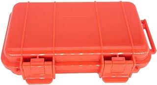 shunxinersty耐衝撃オーガナイザー 17 センチメートル EDC 屋外手術耐衝撃防塵密閉ボックス収納ケースコンテナオレンジ