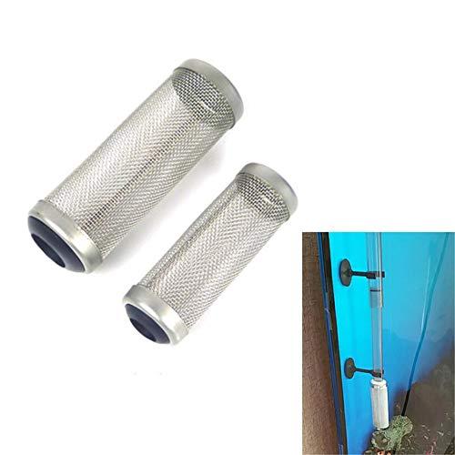 Edelstahl-Aquarium-Filterschutz für Aquarien, Einlasskorb, Schutzabdeckung, Netz, Einlaufschutz, Mantel, Fässer, Zylinder