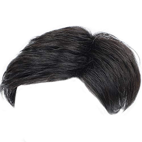 Pruik 16 * 18/18 * 20cm mannen pruik midden en oude pruik Real haartransplantatie kort haar hoofd vervanging patch