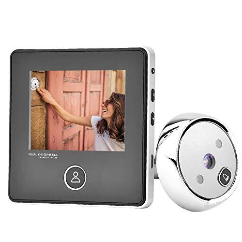 Digitaler Türspionierer, 3 Zoll TFT LCD Bildschirm HD Smart Türspion Visuelle Türklingel mit 1MP IR Nachtsichtkamera, Einfach zu bedienen, für die Sicherheit im Haus