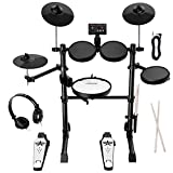 Asmuse Electronic Drum Set Kit for Adults Beginners with 8 inch Mesh Snare Electric Drum Set with Rim Shot and Cymbal Choke Function,USB MIDI Supported,2 Pairs of Drum Sticks &Headphone Set Included