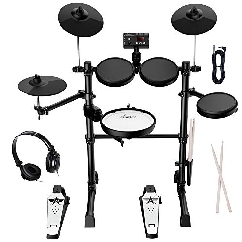Asmuse Electronic Drum Set Kit for Adults Beginners with 8 inch Mesh Snare Electric...