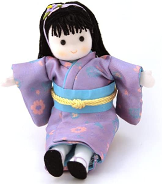 Japanese Musical Doll By Green Tree Purple Outfit