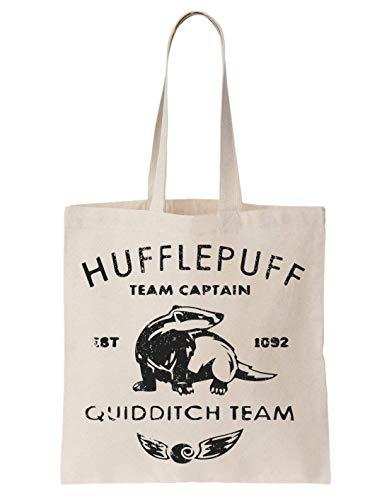 KRISSY Hufflepuff Quidditch Team Schultertasche Tote Bag