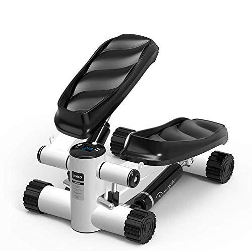 DSHUJC Stepper Horizontaland Rotary Motion Multifuncional Stepper Hidráulico Stepper Pantalla Digital LED Bicicleta estática para Entrenamiento de piernas y Caderas