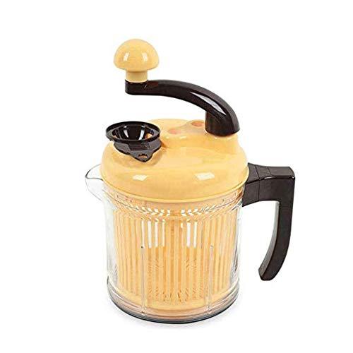 SXXYTCWL Gelbes manuelle Fleischschleifer, Hochleistungs-Mincus-Gemüse, Nüsse Karotte-Reibi-Mixer-Küchen-Gadget jianyou
