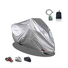 High-quality materials: This motorcycle cover is made of 210D Oxford cloth and PU waterproof coating, the material is softer, the production process is more outstanding, and the waterproof performance is improved better than 190T Oxford cloth Diversi...