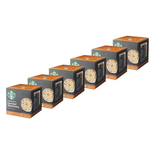 Nescafé Dolce Gusto Starbucks Caramel Macchiato 6er Set, Latte Macchiato mit Karamell, Kaffeekapsel, Röstkaffee, 6 x 12 Kapseln