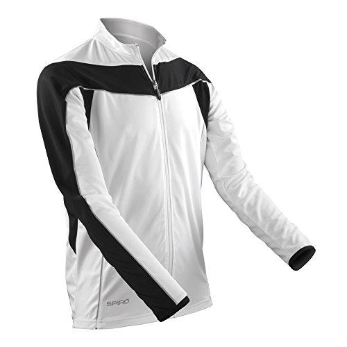 Spiro - Veste de Cyclisme - Homme (L) (Blanc/Noir)