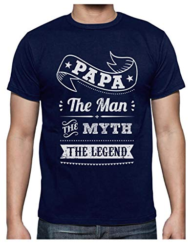 Green Turtle T-Shirts Camiseta para Hombre- Regalos para Hombre, Regalos para Padres. Camisetas Hombre Originales y Divertidas - Papa The Man The Myth The Legend - XX-Large Azul Oscuro