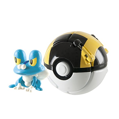 TOMY Throw 'N' Pop Froakie and Ultra Ball Toy