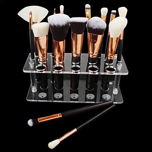 Porte-brosse maquillage 20 trous acrylique clair brosse cosmétique étagère présentoir de séchage/stand pour stylo E-cigarette crayon brosse à dents organisateur (pinceau ne comprennent pas)