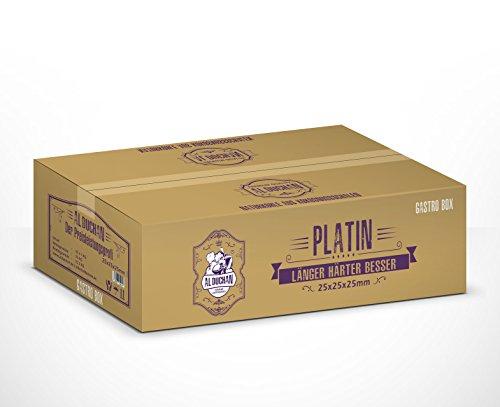 Al Duchan Platin 25er - 10 kg   Shisha Naturkohle aus Kokosschalen   Gastro-Pack