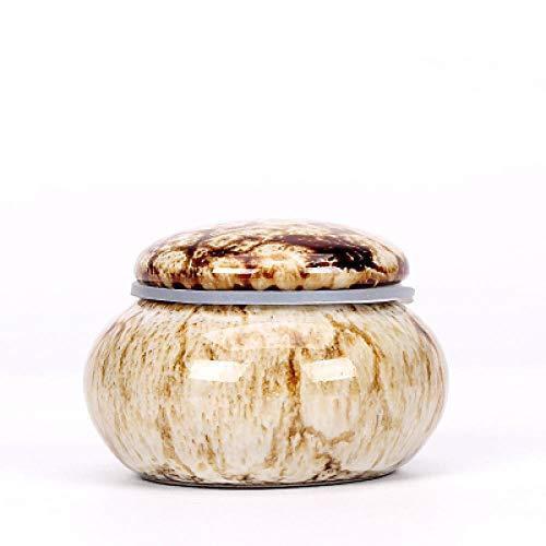 Canisters Opslag Potten Suiker BowlsKeramische Seal Tank Mini Kleine Keramische Kiln Porselein Potje Sealing Vloeibare Poeder Cosmetische Verpakking Boxen Honing Pot Vloeibare Seal Tanks Kleur: wit