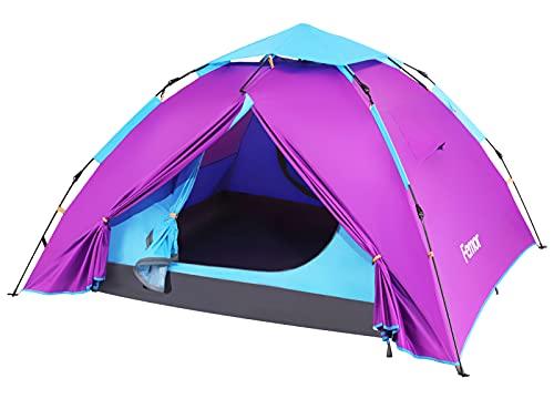 Femor Tenda Campeggio 2 Posti Ultraleggera, Tenda 3-4 Stagioni, Tenda da Spiaggia Pop-up Automatica con Protezione dai Raggi UV, Tenda Portabile Impermeabile Antivento per Picnic, Escursione, Viaggi