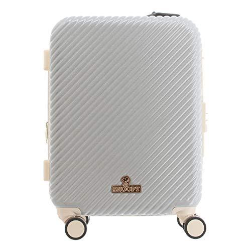 [ピーナッツ] スーツケース 39L 46cm 3.4kg PN-028 PEANUTS ハード ファスナー キャリーケース TSAロック搭載 エキスパンダブル 拡張 キャラクター スヌーピー アイボリー