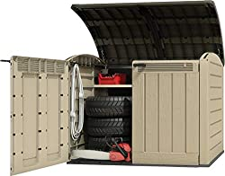 Durable polypropylene design Spacious 2000 litre storage capacity Wood effect UV stabilised finish Piston-assisted lid for easy opening Lid-lifters for hands-free opening of wheelie bins