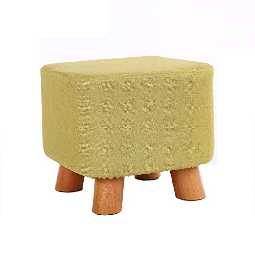 LJZslhei Hocker Mode Moderne Kleine Bank Couchtisch Hocker Hause Kreative Wohnzimmer Massivholz Hocker Grün