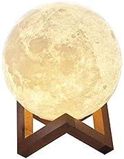 مصباح على شكل قمر من ايبسي مع يو اس بي، مصباح ليد قابل لاعادة الشحن مع طباعة ثلاثية الابعاد، مصباح ليلي من مادة بي ال ايه 20cm 2724635790256
