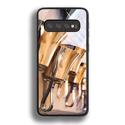 FEDDIY Stylish Tempered Glass Phone Case, Specially Designed for Samsung Galaxy S10 Phone Case, Suitable for Galaxy S10 2019 Version Handbells