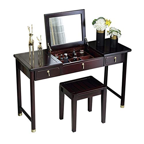 Best Price ChenyanAwesom Dressing Tables Dressing Table Vanity Makeup Table with Flip Top Mirror Sol...