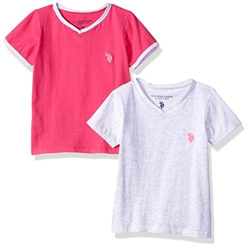 Pink Kids Ringer T-Shirt - 4