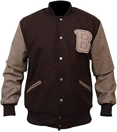 Men Hotline Miami B Logo Varsity Brown Wool Jacket