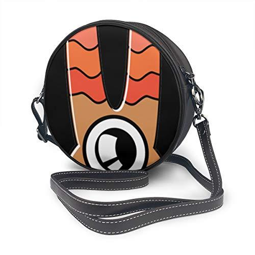 Architd Handtasche mit langen Ohren, einäugiges Monster, rund, PU-Leder mit Reißverschluss, Schultertasche, runde Tasche, für Frauen