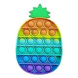 Yban Pop It Piña Juguete de Descompresión de Burbujas Push Pop Bubble Simple Dimple Fidget Toy Barato Juguete Antiestres Sensorial Juguetes Educativos para Niños y Adultos (3A)