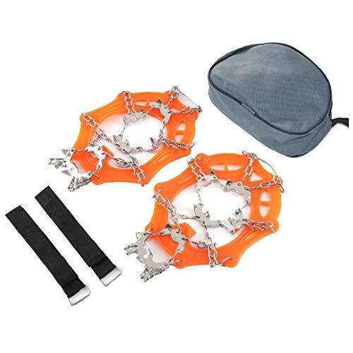 YepYes EIS-Schnee-Griffe Traktions Klampen Steigeisen für Schuhe 19 Edelstahl-Spikes Wandern auf Schnee und EIS - X-Large